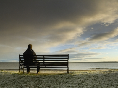 loneliness bench